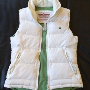 Aeropostale White Puffy Vest